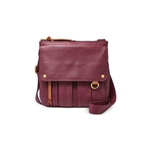 Fossil Morgan Traveler Purple Crossbody Purse